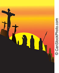Jesus Christ Crucifixion - Three Crosses , Crucifixion Jesus...