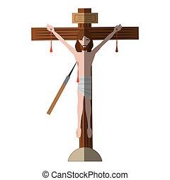 jesus christ dies cross shadow