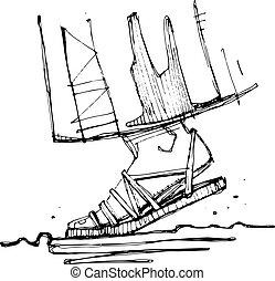 Jesus Christ foot illustration