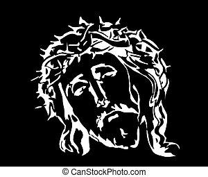 Jesus Christ image on a black background