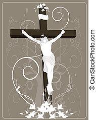 Jesus Christ in cross - Illustration of Jesus Christ in...