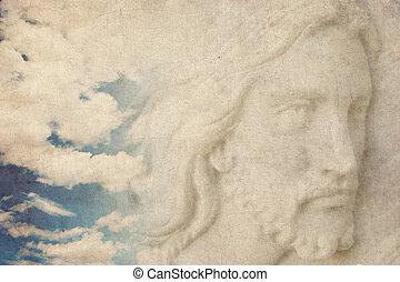jesus christ in the sky grunge back