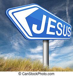 Jesus Christ - Jesus leading way to the lord faith in savior...