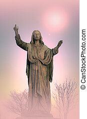 Jesus Christ monument, artistic background