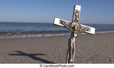 Jesus Christ on metal croos