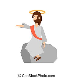 jesus christ preach pray vector illustration eps 10