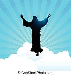 Jesus Christ raising His hands