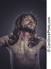 jesus christ, representation of Calvary on the cross with ...