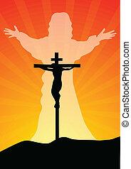 Resurrection of Jesus Christ - vector
