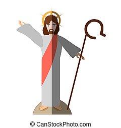 jesus christ resurrects shadow