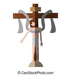 jesus christ sacred cross shadow