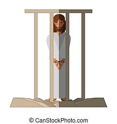 jesus christ sentenced death - via crucis shadow