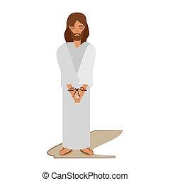 jesus christ sentenced death - via crucis vector...