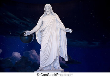 Jesus Christ Statue - Jesus standing with the Universe...