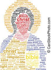 Jesus Christ Word Cloud Concept