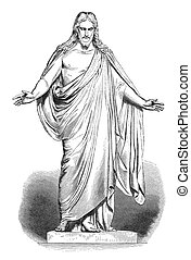 Jesus Christus - Illustration of Jesus based on Thorvaldsen'...