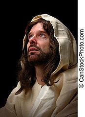 Jesus Cried - Jesus cried. Represented by portrait of Jesus...