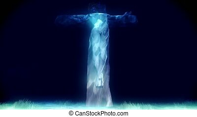 Jesus crucifiction - Jesus crucified on time lapsed skyscape