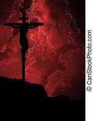 The Crucifixion of Jesus Christ - Jesus on the cross