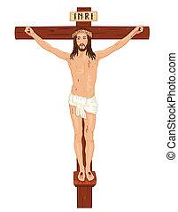 jesus, -, crucifixon, kristus, kors