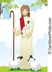 jesus, der, schafhirte