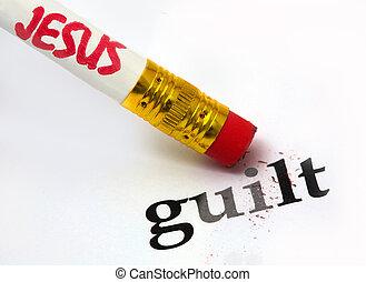 Jesus - guilt - concept of Jesus erasing guilt, using an...