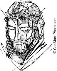 jesus, hans, passion, kristus, ansikte