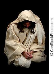 jesus, in, gebed