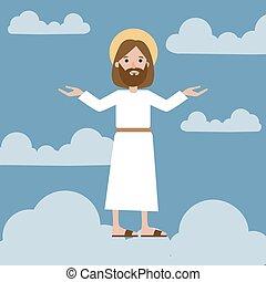 Jesus in sky.