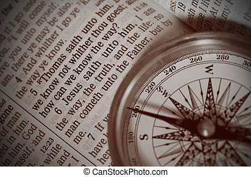 Jesus is the Way - A compass with pointer pointing to Jesus ...