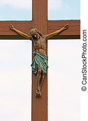 jesus, kruzifix, christus