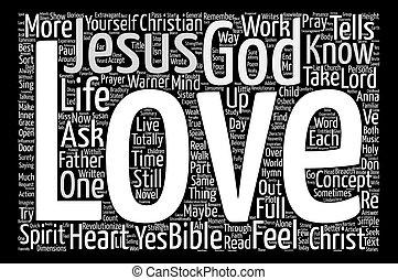 Jesus Loves Me Word Cloud Concept Text Background