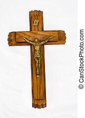 Jesus on metal cross