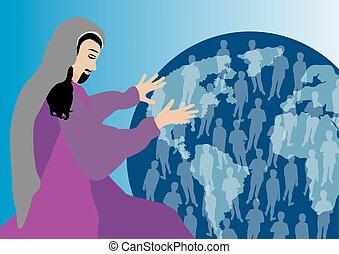 Jesus praying for us - Jesus Christ praying for us in heaven