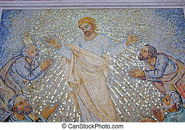 Jesus resurrection - Jesus Christ resurrection, mosaic in ...
