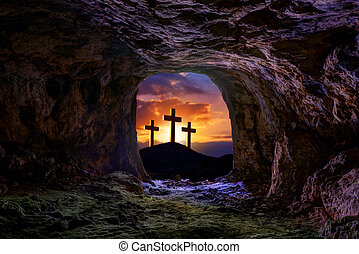 Jesus resurrection sepulcher grave cross