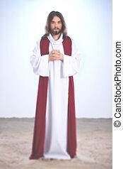 Jesus saying a prayer