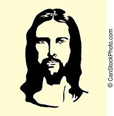 jesus, silhouette, gezicht
