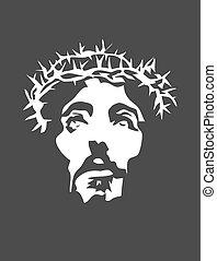 jesus, silhuett, ansikte