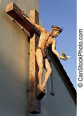 Jesus Statue in Evening Light - A stunning statue of Jesus...