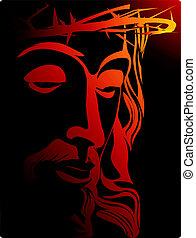 Jesus - Illustration of Jesus Christ with crown of thorns