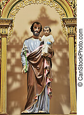 Jesus - Baby Jesus and his father Joseph