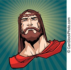 Jesus Superhero Portrait 2