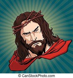 Jesus Superhero Portrait