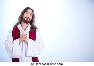Jesus talking with God
