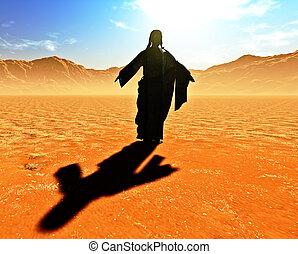 Jesus the Redeemer in the desert