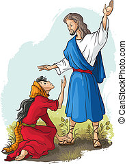 Jesus to Mary of Magdalene - Bible stories. Jesus to Mary of...