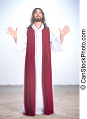 Jesus with hands up