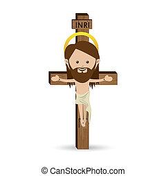 jesuschrist design over white background vector illustration