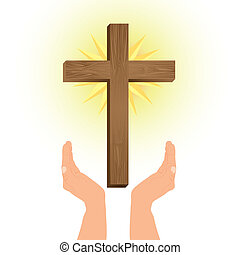 Religious Illustration, Cross of Our Lord Jesus Christ, vector illustration